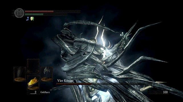 Kriegt euch einer der Könige so zu fassen und umklammert euren Körper, kann das selbst mit dicker Rüstung den Tod bedeuten.