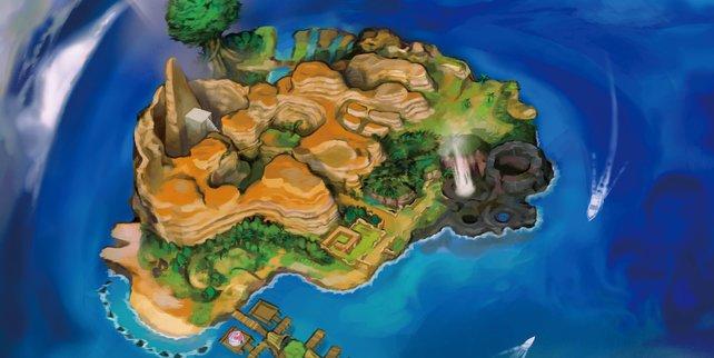 Es gibt eine Inselprüfung auf Poni.