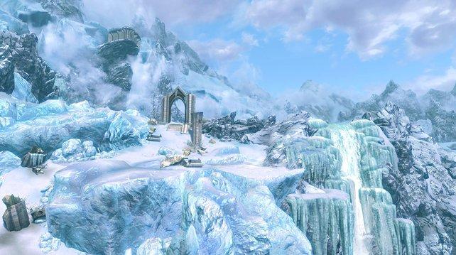 Das vergessene Tal ist nur einer von vielen mythischen Orten der Dawnguard-Erweiterung.