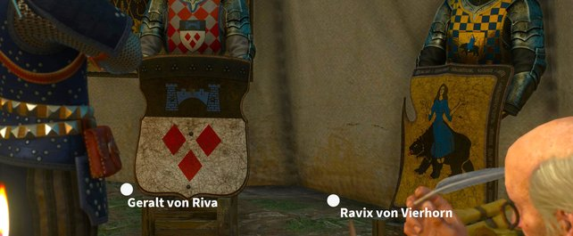 Geralt wird zum Ritter!!! Doch wie soll er heißen? Geralt von Riva oder doch eher Ravix von Vierhorn.