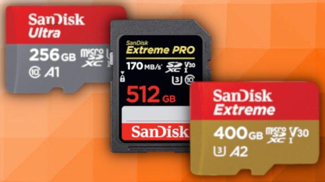SanDisk-Speicherkarten sind aktuell bei Amazon im Angebot.