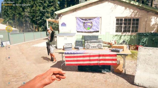 Wenn ihr Waffen kaufen wollt, müsst ihr zu einem Außenposten zurückkehren.