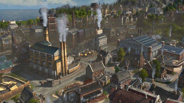 Typisch für die Industrialisierung: Fabriken bestimmen das Stadtbild und verpesten die Luft.