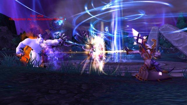Häufig kämpft ihr an der Seite von bekannten Persönlichkeiten des Warcraft-Universums wie Prophet Velen oder Erzmagier Khadgar.
