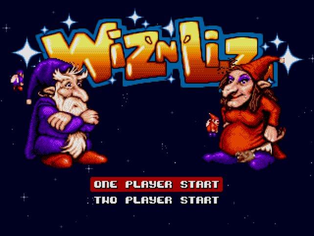 Ihr kennt Wiz 'n' Liz nicht? So sah der Titelbildschirm aus.