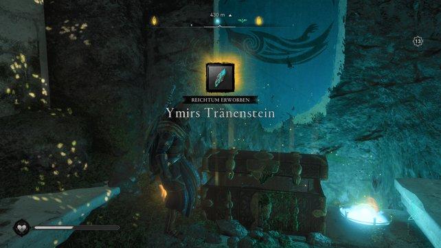 Bei den Reichtümern in Asgard und Jötunheim handelt es sich um Ymirs Tränen- und Blutsteine.