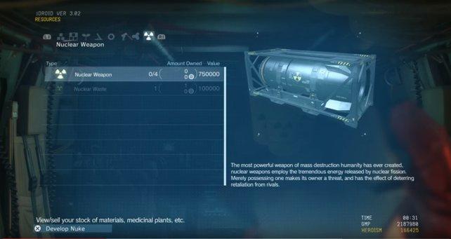 Selbstverständlich gibt es auch Nukes im neuen MGS 5