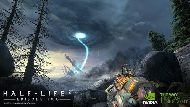 Mit in der Orange Box: Half-Life 2. Wir ersparen uns an dieser Stelle jegliche Bemerkung zu einem dritten Teil.