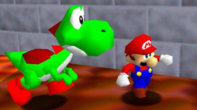 Nur die ehrgeizigsten Spieler werden Yoshi in Super Mario 64 entdecken.