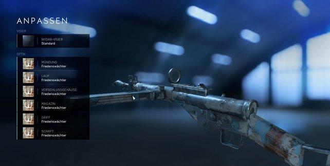 Entscheidet euch für einen Waffen-Skin oder kombiniert, wie es euch gefällt.