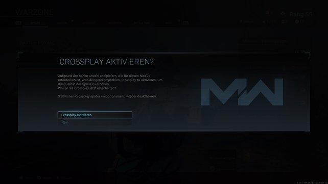 Schon vor dem Start eurer ersten Runde ist Crossplay in CoD: Warzone ein Thema.