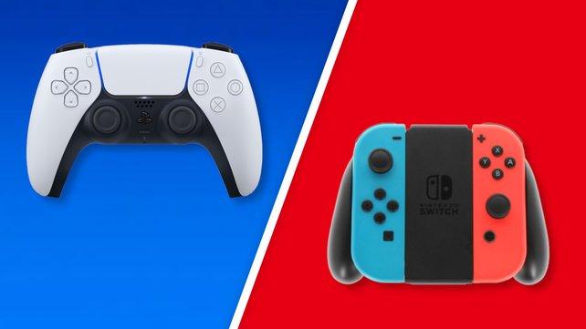Der Controller der PS5 teilt sich ein Problem mit den Joy-Cons der Switch. Bildquelle: Sony/ Nintendo