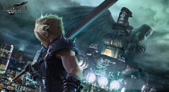 Cloud nimmt den Kampf mit Sephiroth auf.