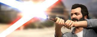 Star Wars trifft GTA 5: Trevor und Michael liefern sich erstklassigen Lichtschwertkampf