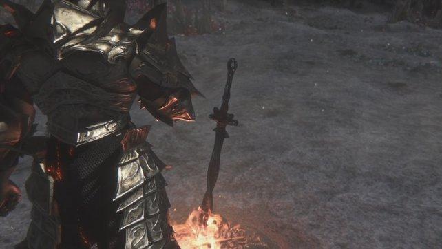 Ihr bindet die erste Flamme für ein gewöhnliches Ende von Dark Souls 3.
