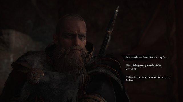Eivors alter Freund Tryggvi erzählt ihm, dass sein Jarl sowie Eivors Jugendfreund Probleme mit aggressiven Pikten haben.