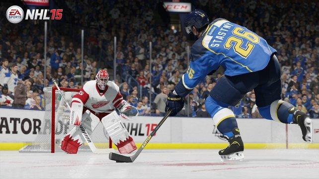 Das neue NHL 15 überzeugt beim authentischen Einfangen der schnellen Sportart auf dem Eis.