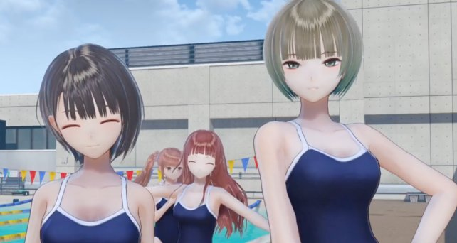 """Das ist doch normal in Japan."", im Bild: Blue Reflection."