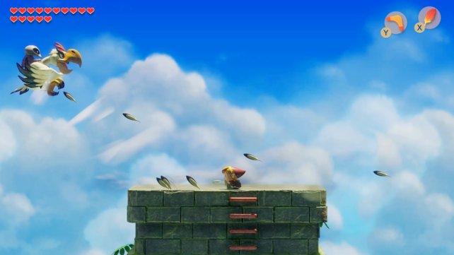 Der Pegasussprint hilft euch dabei, nicht von der Spitze der Festung zu fallen.