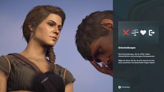 Nicht alle Entscheidungen beeinflussen die Enden bei Assassin's Creed - Odyssey.
