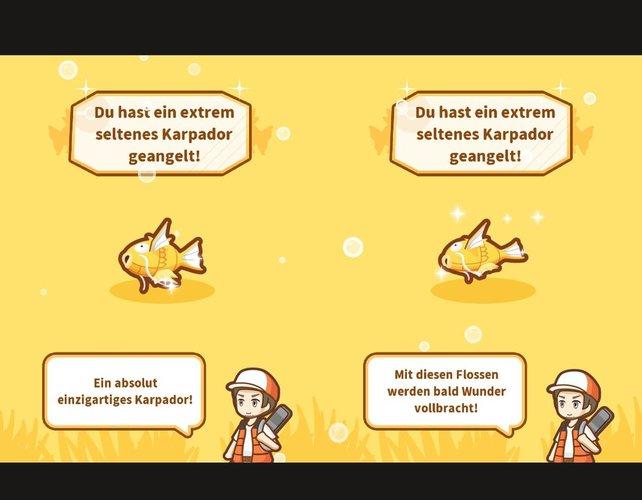 Egal ob Shiny oder normales Karpador: Die KP-Werte sind fest an das Level des Pokémon gebunden.