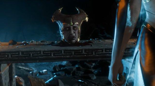 Shinnok befindet sich in einer kopflosen Lage.