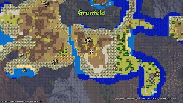 """Hier findet ihr die Quelle mit klarem Wasser. Etwas nördlich davon befindet sich der Schnellreisepunkt """"Tomatenhof des Orks""""."""