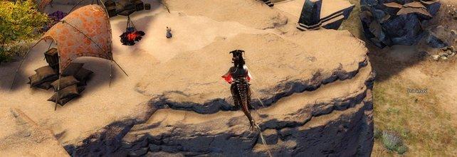Mit dem Raptor überwindet ihr ohne Probleme große Schluchten.
