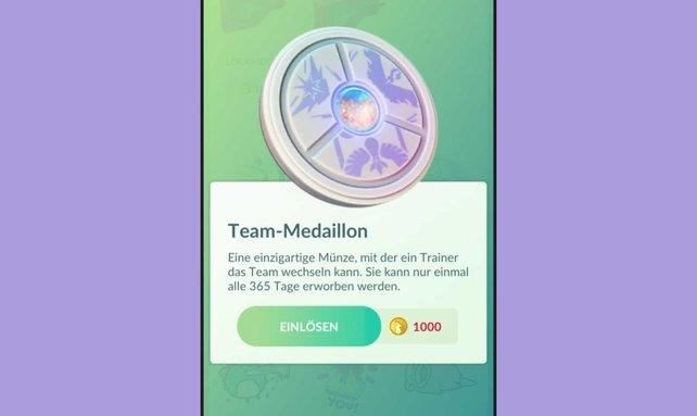 Ohne diese Medaille könnt ihr in Pokémon GO leider auch nicht das Team wechseln.