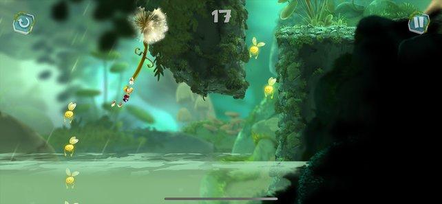 Ubisoft steuert mit Rayman Mini ein simpel zu steuerndes Jump and Run bei.