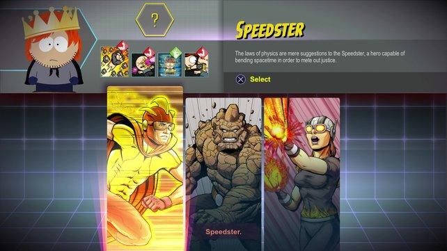 Am Anfang habt ihr die Wahl aus drei Heldengattungen. Jede verfügt über drei individuelle Attacken und einen besonders durchschlagskräftigen Ultimate-Angriff.