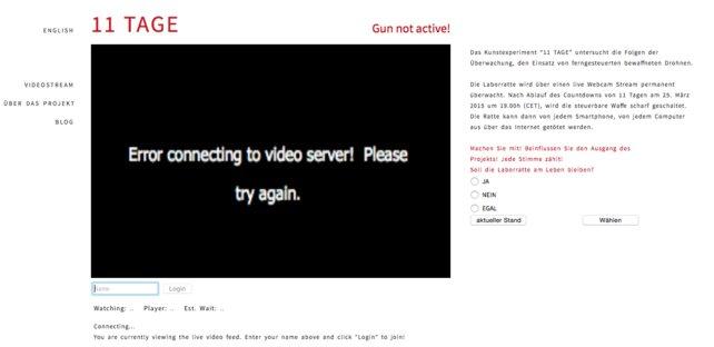 Das Interesse scheint groß: Die Webseite des Experiments ist oft überlastet.