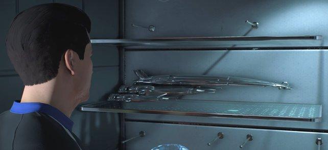 Ist sie nicht schön? Das Modell der Normandy zählt zu den vielen Easter Eggs in Mass Effect Andromeda.