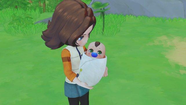 Das beste von beidem: Euer Kind hat die Augen eines Elternteils und die Haare des anderen.