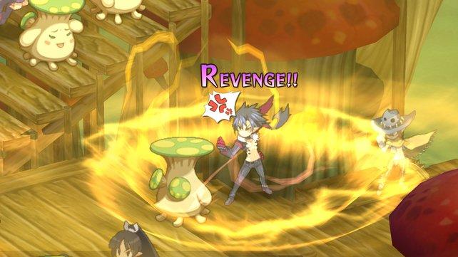 Ab und zu könnt ihr den Revenge-Modus auslösen, der macht euch besonders stark.