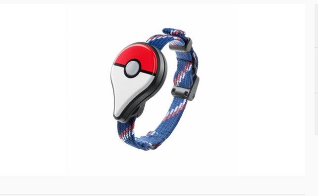 Das Pokémon Go Plus-Gerät als Armband.