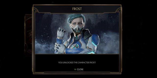 Eisige Glückwünsche! Ihr habt mit Frost den letzten Basis-Charakter freigeschaltet.