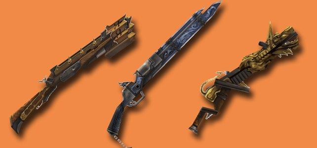 Drei Feuerwaffen aus FF 12 - The Zodiac Age. (Quelle: finalfantasy.wikia.com)