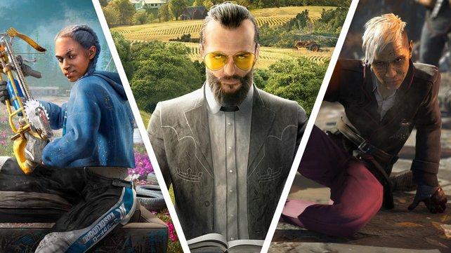 Die Plünderin Lou, der Prophet Joseph Seed und der Warlord Pagan Min: Geben sie die besten Zutaten für den Traum-Bösewicht in Far Cry?