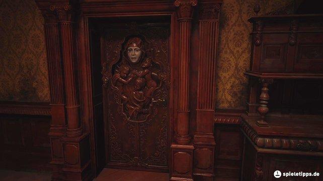 Um die Tür mit dem Gesicht zu öffnen, müsst ihr ein Auge finden, das ihr hier einfügen könnt.
