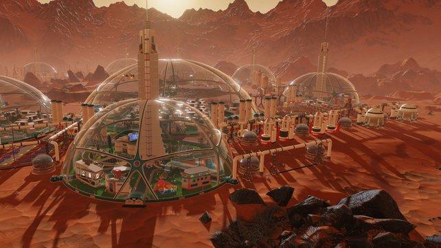 Auf dem Mars müsst ihr euch mit Mysterien und einem harten Überlebenskampf auseinandersetzen.
