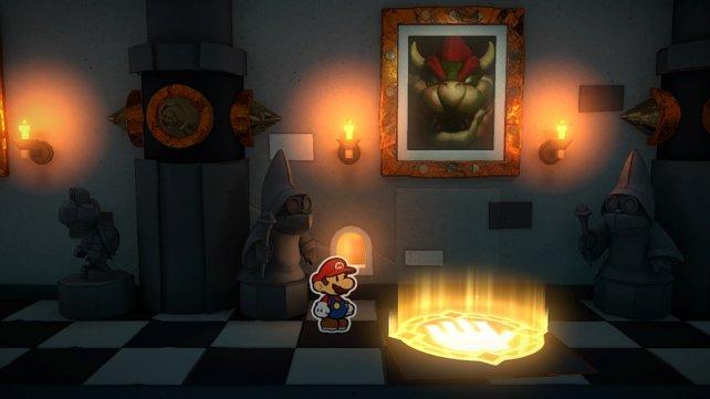 Auf der Rückseite des Olly-Bilds versteckt sich ein Faltkreis.