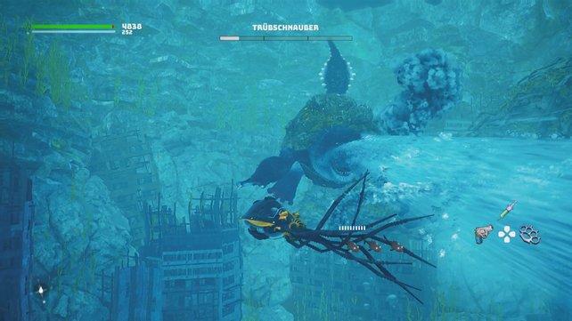 Um die 4 Weltenfresser bekämpfen zu können, benötigt ihr spezielle Gefährte wie diesen Oktopod.