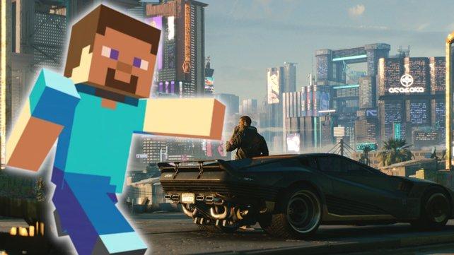 Fan baut Cyberpunk 2077 in Minecraft nach.