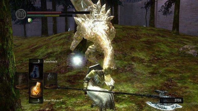 Wer hier den goldenen Golem findet, kann die Tochter von Zwiebelkopf Siegmeyer von Catrina befreien.