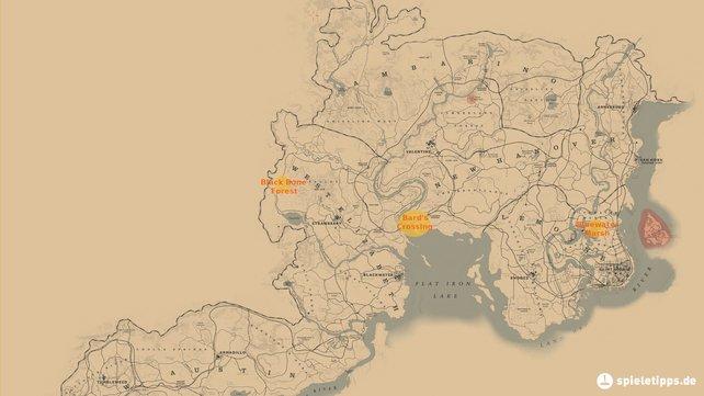 Red Dead Redemption 2 Watsons Blockhutte Karte.Red Dead Online Schatzkarten Und Ihre Losungen Spieletipps