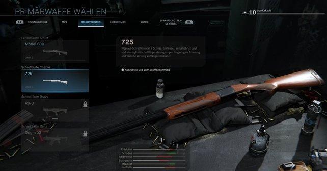 Fans sind unzufrieden mit der Reichweite der 725 Shotgun.