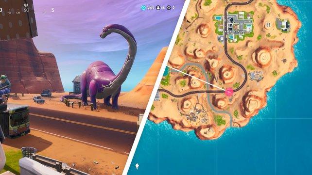 Gleich drei Dinosaurier stehen südlich von Paradise Palms. Alle zählen für die Mission.