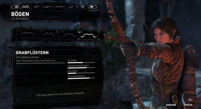 Lara probiert den Grabflüsterer aus.