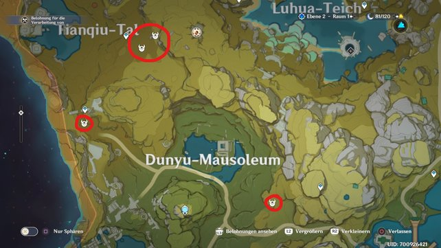 Auf dieser Karte haben wir ein paar Fundorte für euch markiert.